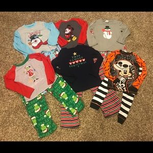 Lot of 6 holiday pj sets Sz 10